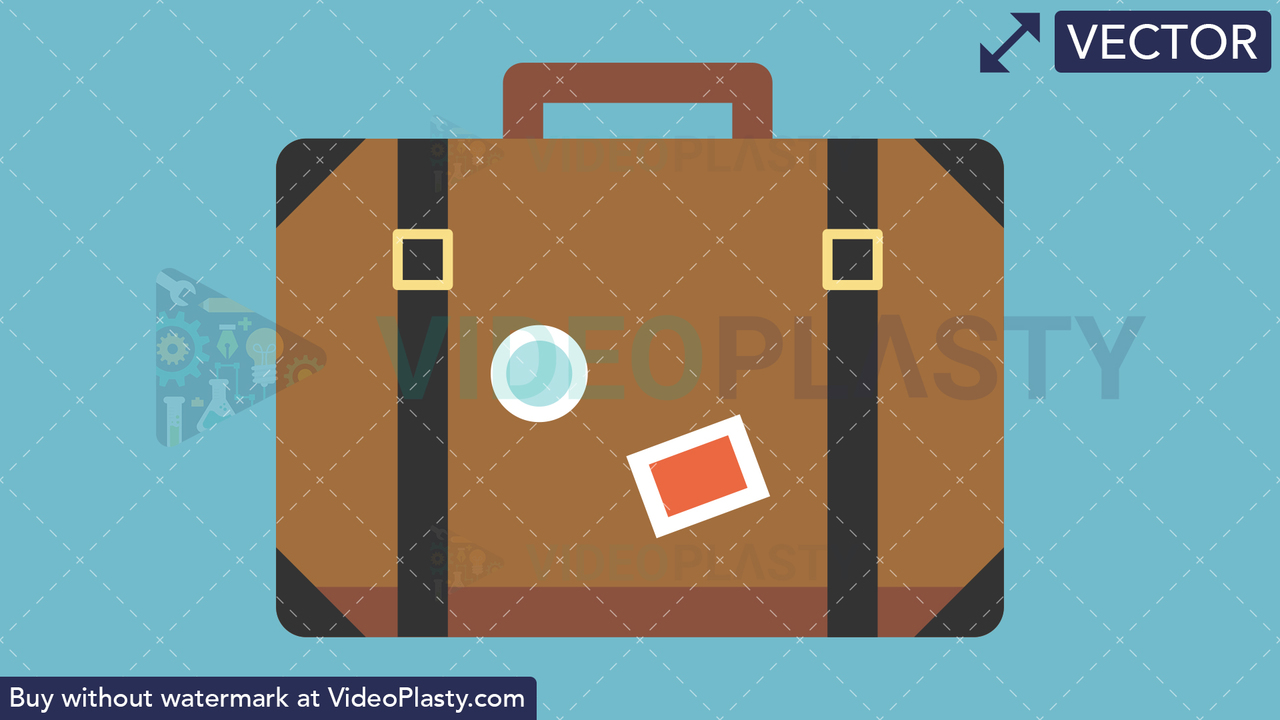 Travel Bag Flat Icon Vector Clipart