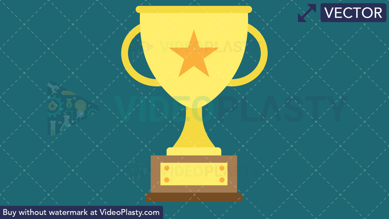 Trophy Flat Icon Vector Clipart