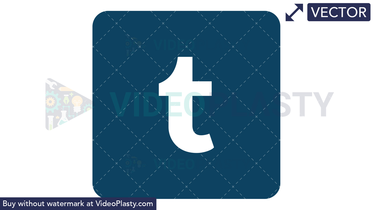 Tumblr Icon Vector Clipart