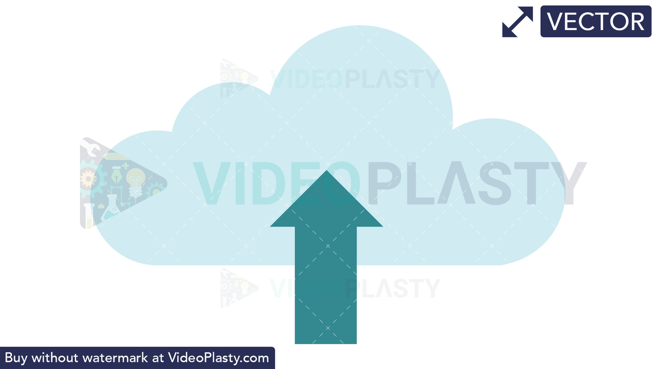 Upload to Cloud Icon Vector Clipart