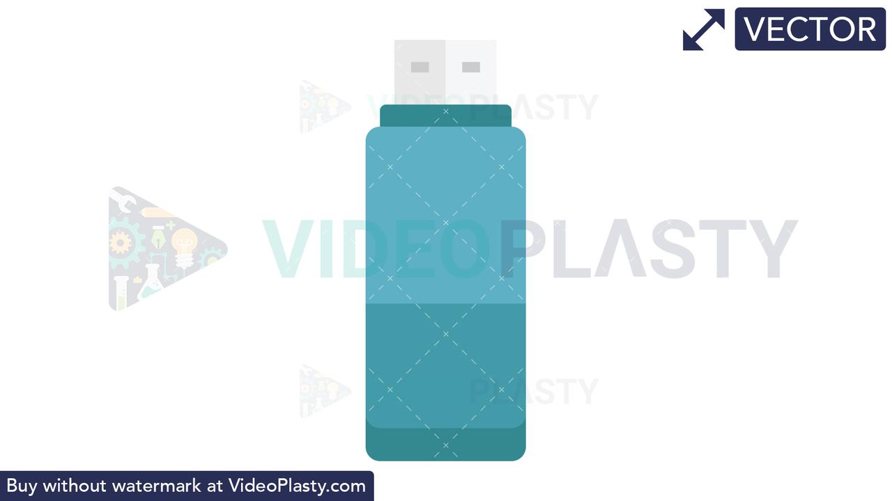 USB Stick Icon Vector Clipart