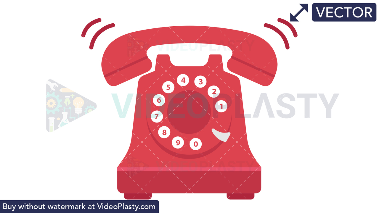 Vintage Phone Vector Clipart