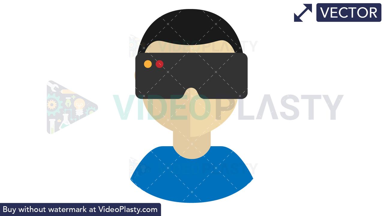 Virtual Reality Icon Vector Clipart