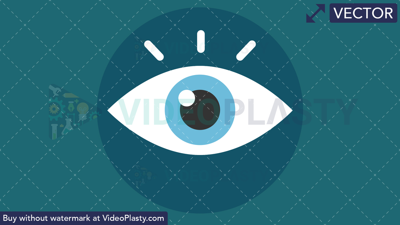 Vision Flat Icon Vector Clipart