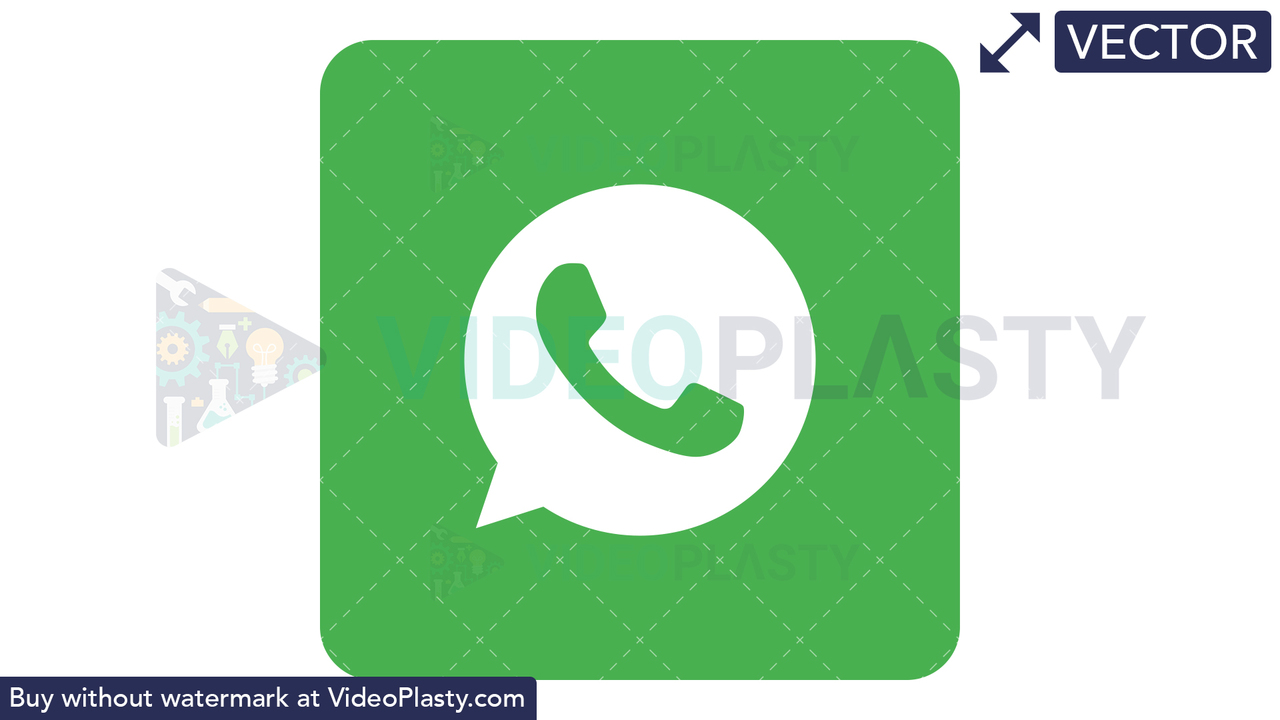 WhatsApp Icon Vector Clipart