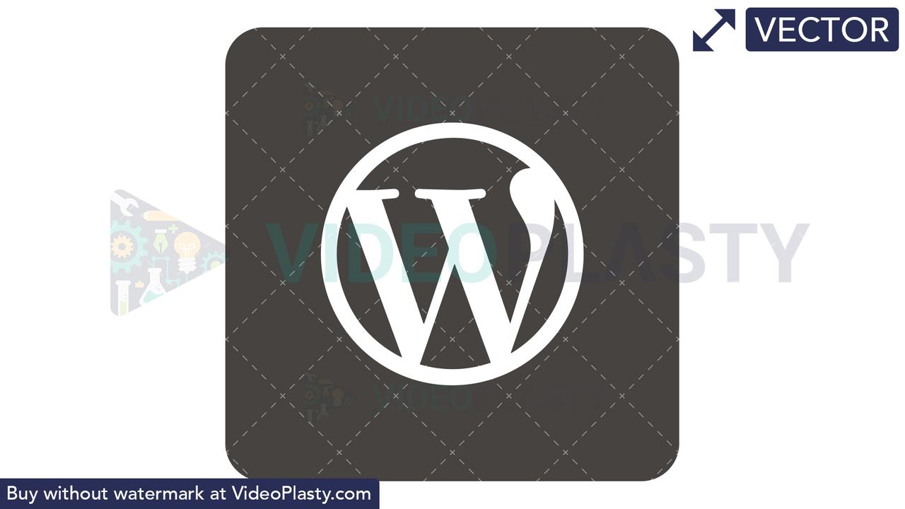WordPress Icon Vector Clipart