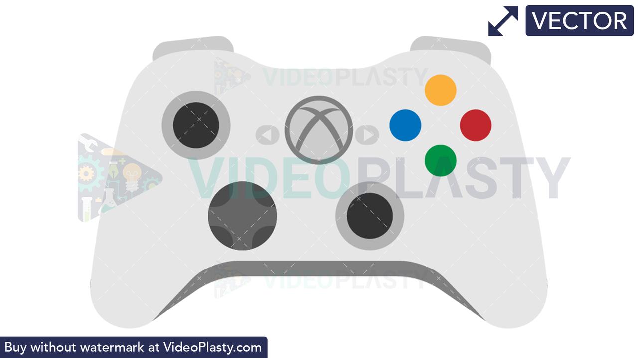 Xbox Controller Icon Vector Clipart