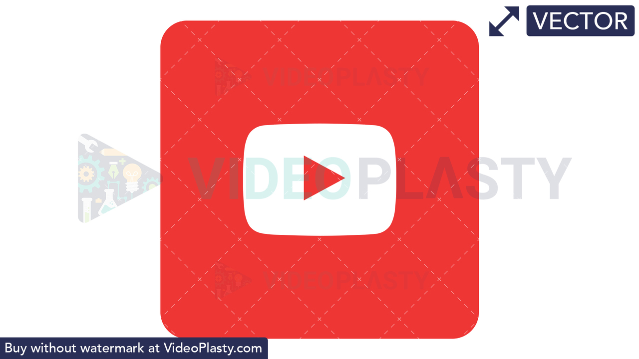 YouTube Icon Vector Clipart